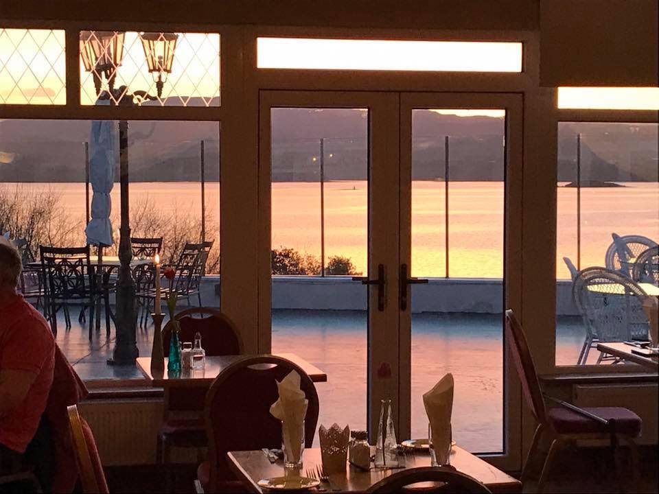 Ripples Restaurant Kerrykeel Dining Room Sunset